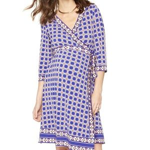 A Pea in the Pod Maternity Purple Wrap Dress